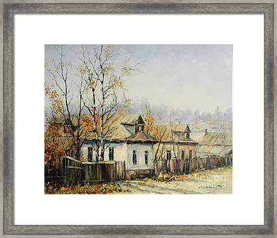 Rural Autumn Framed Print by Petrica Sincu