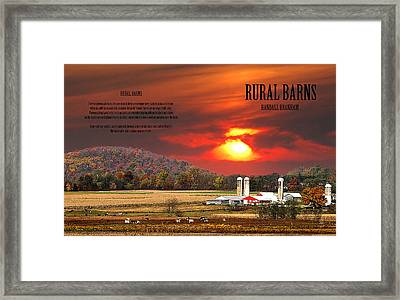 Framed Print featuring the photograph Rural Barns  My Book Cover by Randall Branham