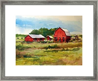 Rural Barns Framed Print by Spencer Meagher