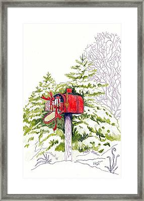 Country Living Christmas Delivery Framed Print