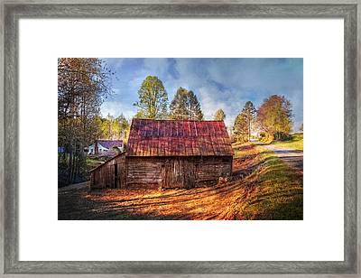 Rural Country Road Framed Print by Debra and Dave Vanderlaan