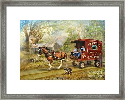Rural Deliveries Framed Print by Trudi Simmonds