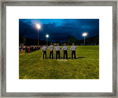 Rural Friday Night Lights Framed Print by Michael Weaver