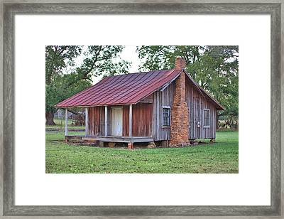 Framed Print featuring the photograph Rural Georgia Cabin by Gordon Elwell