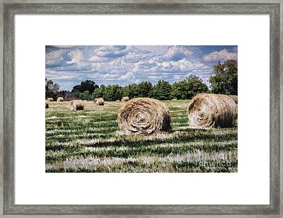 Framed Print featuring the painting Rural Georgia by Linda Blair