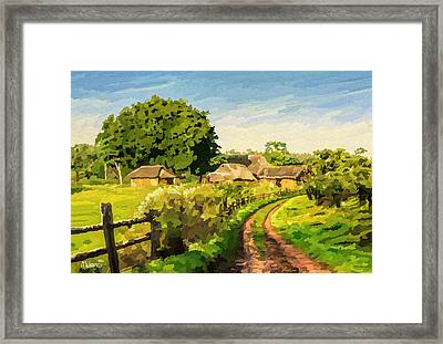 Rural Home Framed Print