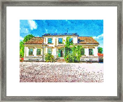 Rural Hotel In Sweden 2 Framed Print