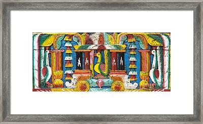 Rural Indian Wood Carving Framed Print
