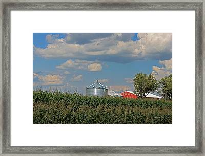 Rural Indiana Scene - Adams County Framed Print