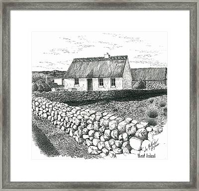 Rural Irish Cottage Framed Print By Jimmy McAlister