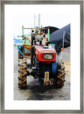 Rural Korean Tractor Framed Print by Sally Bucey