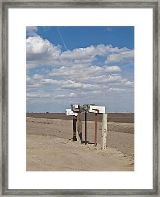 Rural Mailboxes Framed Print by David Litschel