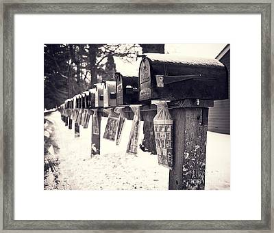 Rural Mailboxes Framed Print by Edward Fielding
