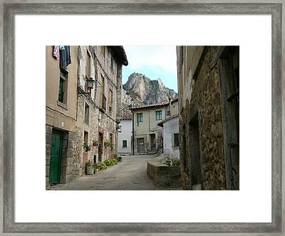 Rural Medieval Town Framed Print