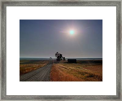 Rural Montana Sunrise Framed Print by Leland D Howard