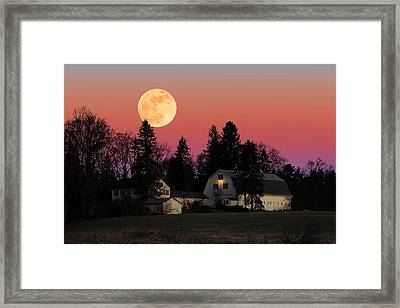 Rural Moonrise Framed Print