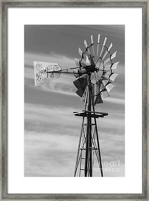 Rural Nebraska Windmill Framed Print