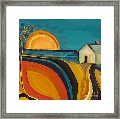 Rural Oasis  Framed Print