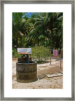 Rural Open Well Framed Print by Linda Phelps