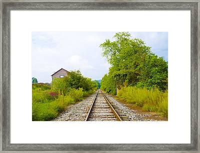 Rural Pa Train Tracks Framed Print by Bill Cannon