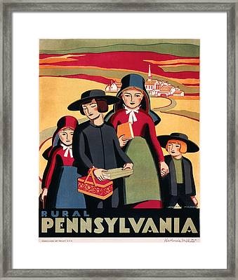 Rural Pennsylvania 1938 Framed Print by Mountain Dreams