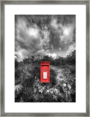Rural Post Box Framed Print by Mal Bray
