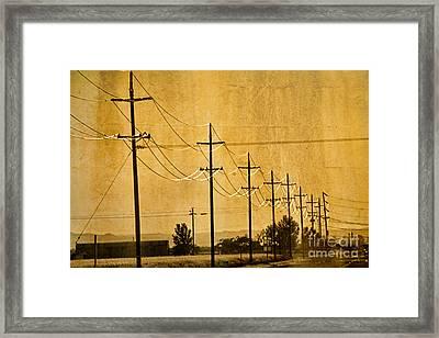 Rural Power Lines Framed Print