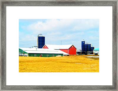 Rural Primary Colors Framed Print by Tina M Wenger