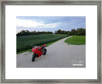Rural Road In Indiana Framed Print by AntiHero