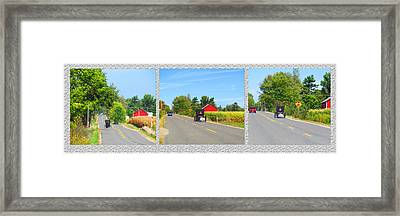 Rural Road The Unhurried Life Framed Print by Tina M Wenger