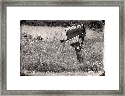 Rural Route Mail Call  Framed Print