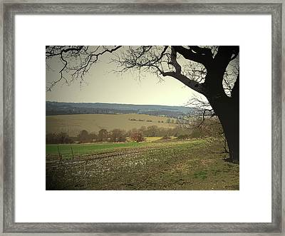 Rural Scene To The North Of Sheffield, Looking Towards Framed Print