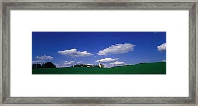 Rural Scene With Church, Near Framed Print