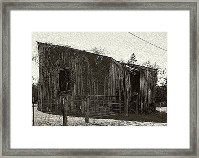 Framed Print featuring the photograph Rural Shack by Ellen O'Reilly