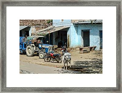 Rural Street Scene Framed Print