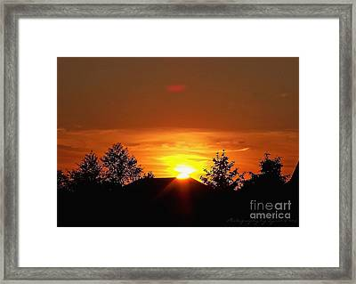 Framed Print featuring the photograph Rural Sunset by Gena Weiser