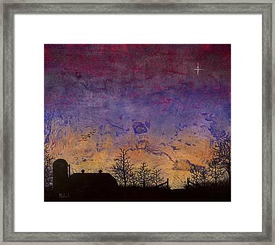 Rural Sunset Framed Print