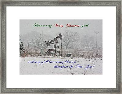 Rural Texas Christmas Framed Print by Robyn Stacey