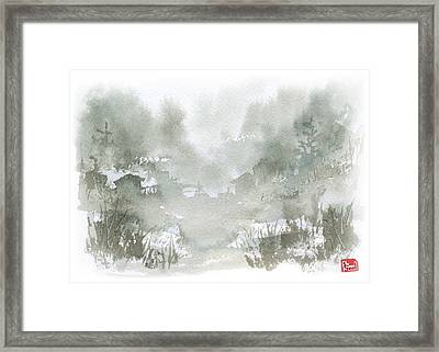 Rural Valley Framed Print by Sean Seal