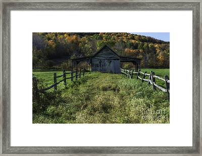 Rural Vermont Symmetry  Framed Print by Thomas Schoeller