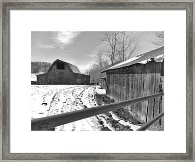 Rural Winter Framed Print