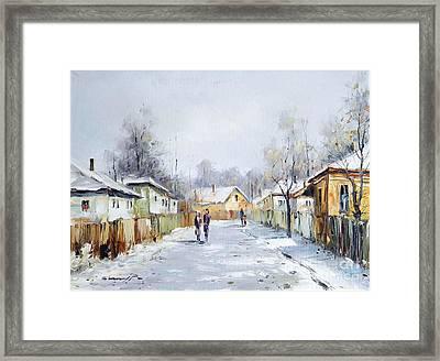 Rural Winter Framed Print by Petrica Sincu