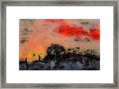Framed Print featuring the digital art Rural Winter Sunrise by Jim Vance