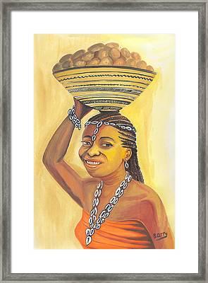 Rural Woman From Cameroon Framed Print by Emmanuel Baliyanga