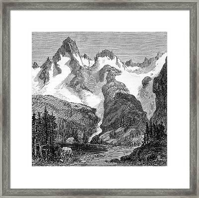 Rush Creek Glacier Framed Print by Universal History Archive/uig