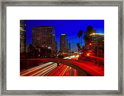 Rush Hour Blue Framed Print