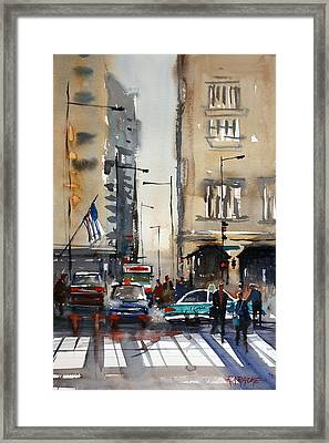 Rush Hour - Chicago Framed Print by Ryan Radke