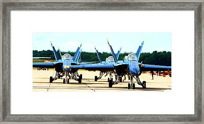 Rush Hour For Angels Framed Print
