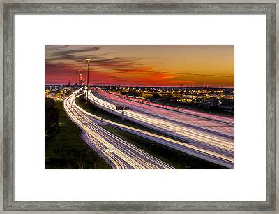 Rush Hour On 59 Framed Print by Micah Goff