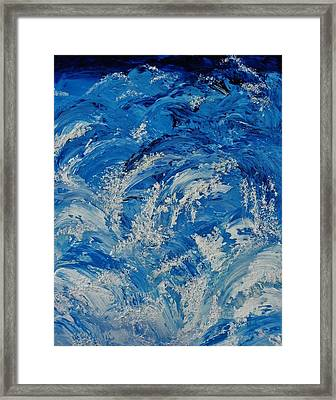 Framed Print featuring the painting Rush by Katherine Young-Beck